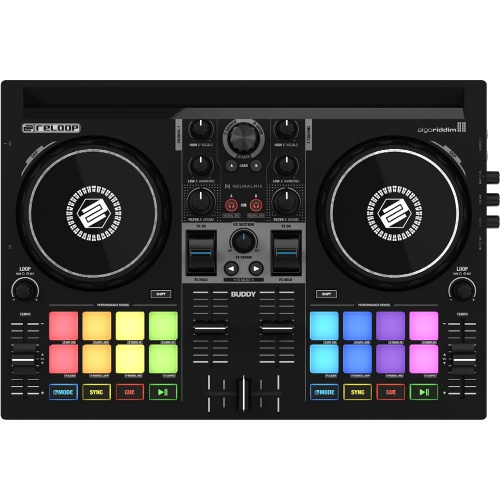 Reloop Buddy, Compact 2-Deck DJAY Controller For iOS, iPad, Mac & PC