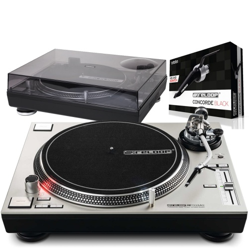 Reloop RP7000 MK2 Silver Turntable + Lid & Ortofon Cartridge Bundle Deal