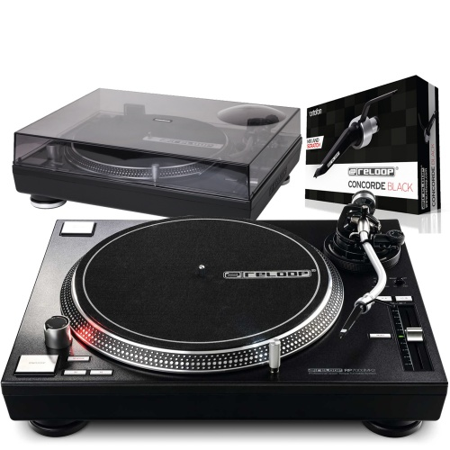 Reloop RP7000 MK2 Black Turntable + Lid & Ortofon Cartridge Bundle Deal