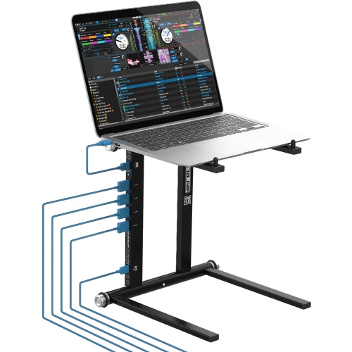 Reloop Stand Hub, Advanced Laptop Stand With USB Hub