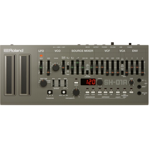 Roland Boutique SH-01A Grey Synthesizer, Based On The Classic SH-101