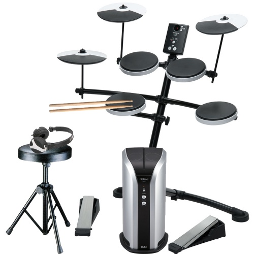 Roland TD-1K Digital Drum Kit, Monitor + Stool, Sticks & Headphones
