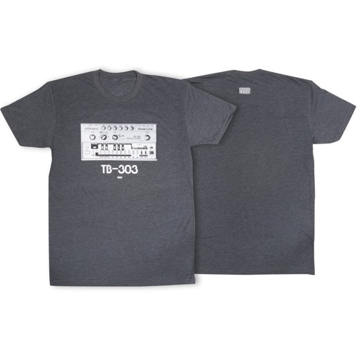 Roland TB-303 Crew Neck T-Shirt, Charcoal