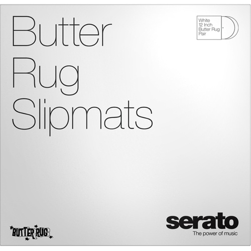 Serato Official Butter Rugs Slipmats, White, 12'' (Pair)