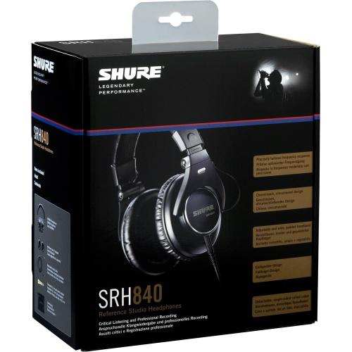 Shure SRH840 Professional Studio Monitoring Headphones