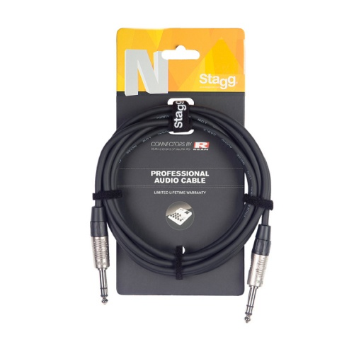 Stagg Jack - Jack 6 Metre Balanced Audio Cable (NAC6PSR)