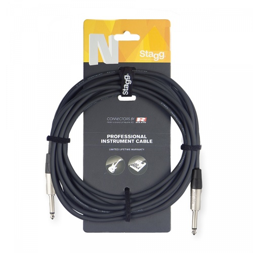 Stagg Jack - Jack 3 Metre Unbalanced Instrument Cable (NGC3R)