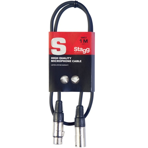 Stagg XLRf - XLRm 1 Metre Balanced Audio Cable (SMC1)