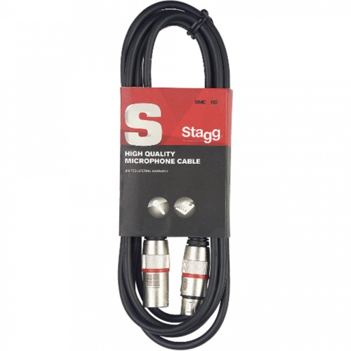 Stagg XLRf - XLRm 6 Metre Balanced Audio Cable (SMC6RD)