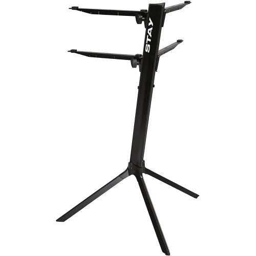 Stay 2-Tier Slim Keyboard Stand Curved Top (Black)