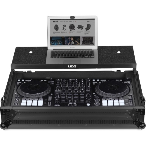UDG Ultimate Flight Case Pioneer DDJ-1000 Black Plus, Shelf & Wheels