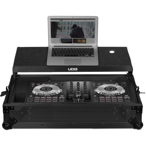 UDG Ultimate Flight Case, Pioneer DDJ-SB2/SB3/400 Black + Laptop Shelf
