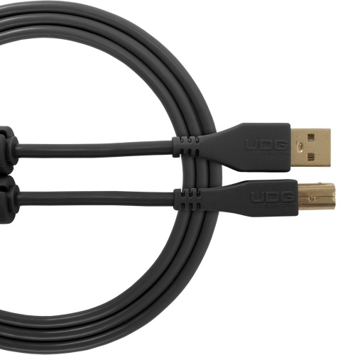 UDG USB-A to USB-B Straight Cable, Black 3 Metre