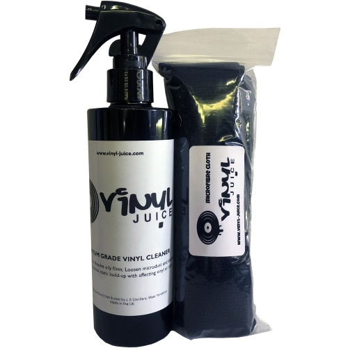 Vinyl Juice, Record Cleaner & Microfibre Cloth Kit
