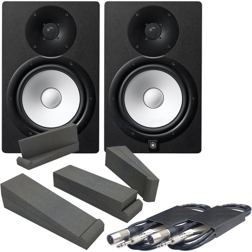 Yamaha HS8-MP Matched Pair Studio Monitors, Iso Pads & Leads Bundle