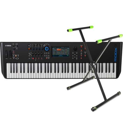 Yamaha MODX7, 76-Key Synthesizer + Keyboard Stand