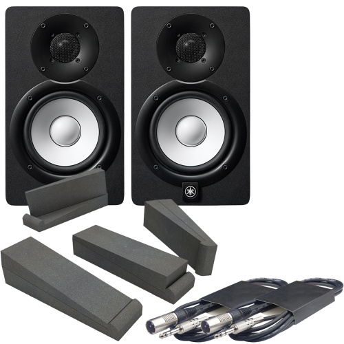 Yamaha HS5-MP Matched Pair Studio Monitors, Iso Pads & Leads Bundle