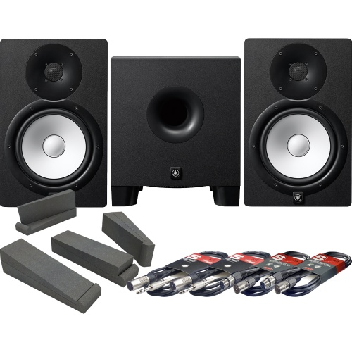Yamaha HS8 Studio Monitors + HS8S Sub + Isolation Pads + Leads Bundle